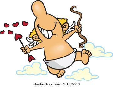 cartoon happy cupid