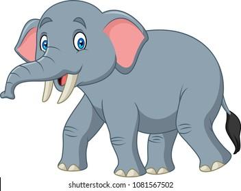 Cartoon happy elephant