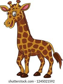 Cartoon happy giraffe