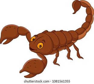 Cartoon happy scorpion