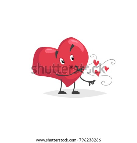 Cartoon Heart Character Falling Love Mascot Stock Vector Royalty