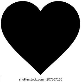 Cartoon Heart Silhouette
