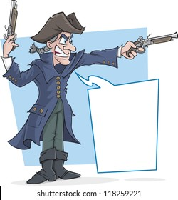 Cartoon highwayman stand and deliver