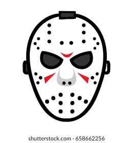 Cartoon Hockey Mask Illustration