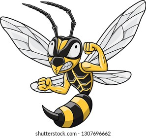 Cartoon Hornet mascot
