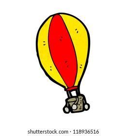 cartoon hot air balloon