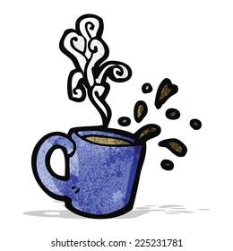 cartoon hot coffee