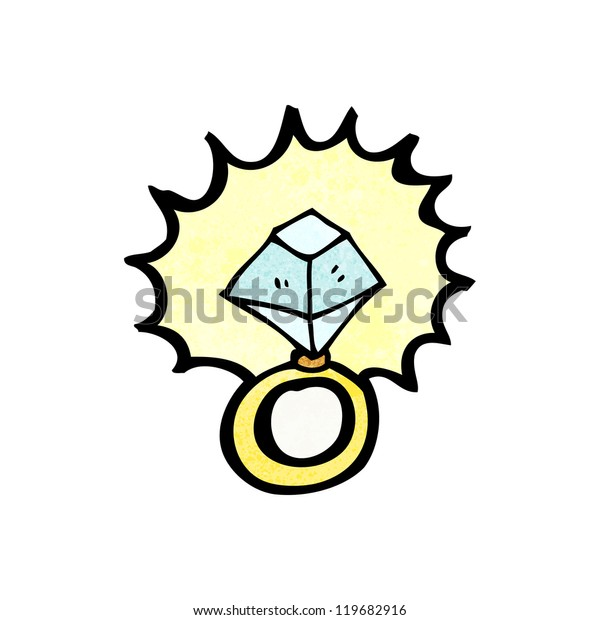 Cartoon Huge Engagement Ring Stock Vector Royalty Free 119682916