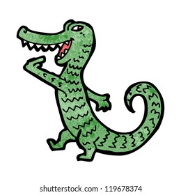cartoon hungry alligator