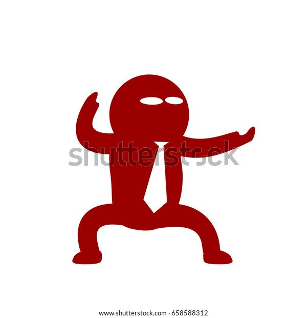 Cartoon Icon Emotional Character Moving Gesticulating Stock