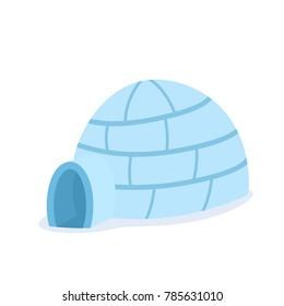 Cartoon igloo icon. Clipart image isolated on white background.