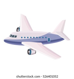 Cartoon illustration of airliner vector icon for web design