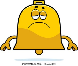 A cartoon illustration of a bell looking sad.