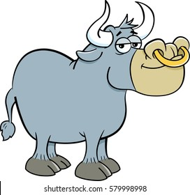 Bull Nose Ring Images Stock Photos Vectors Shutterstock