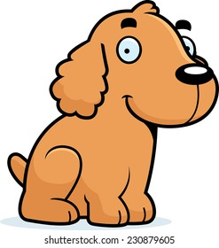 A cartoon illustration of a Cocker Spaniel sitting.