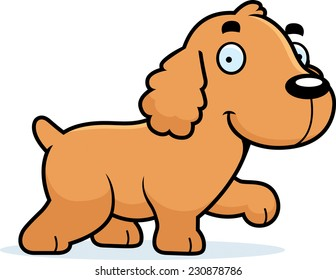how to draw a cocker spaniel cartoon