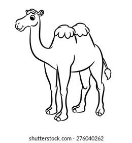 Camel Outline Images, Stock Photos & Vectors   Shutterstock