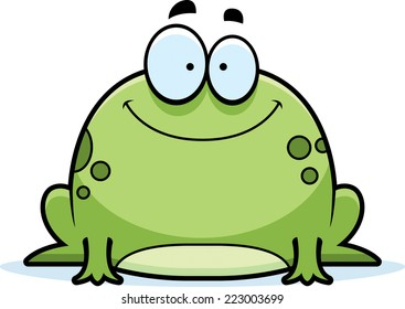 a cartoon illustration of a frog smiling - Picture Of A Frog