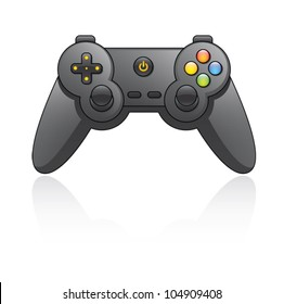 Cartoon illustration of a game pad. Eps 10 Vector.