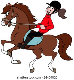 Cartoon Horse Rider Images Stock Photos Vectors Shutterstock