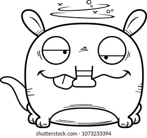 A cartoon illustration of a little aardvark with a goofy expression.