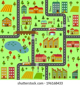 cartoon village map images stock photos vectors shutterstock https www shutterstock com image vector cartoon illustration map city different houses 196168433
