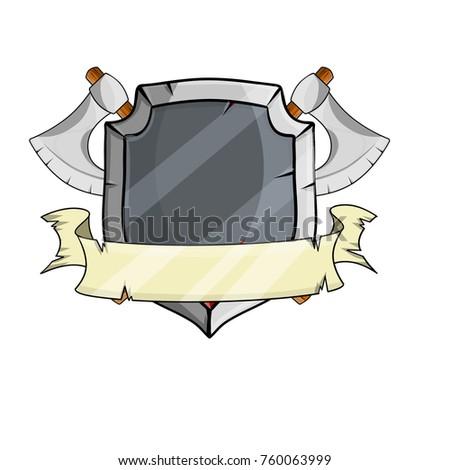 Cartoon Illustration Medieval Weapons Armor Steel Stock Vector