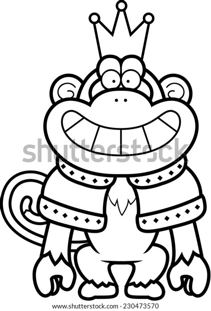 Cartoon Illustration Monkey King Crown Robes Stock Vector Royalty Free 230473570 Hand drawing muzzle of chimpanzee. https www shutterstock com image vector cartoon illustration monkey king crown robes 230473570