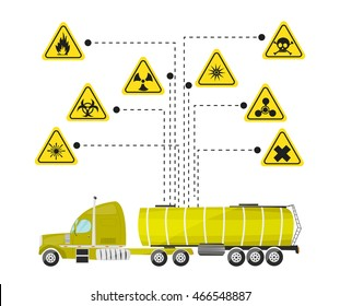 Cartoon illustration on the theme of products of the chemical industry. Vector illustration