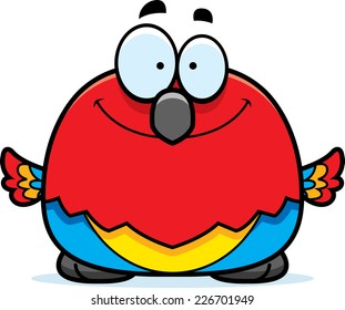 A cartoon illustration of a parrot smiling.
