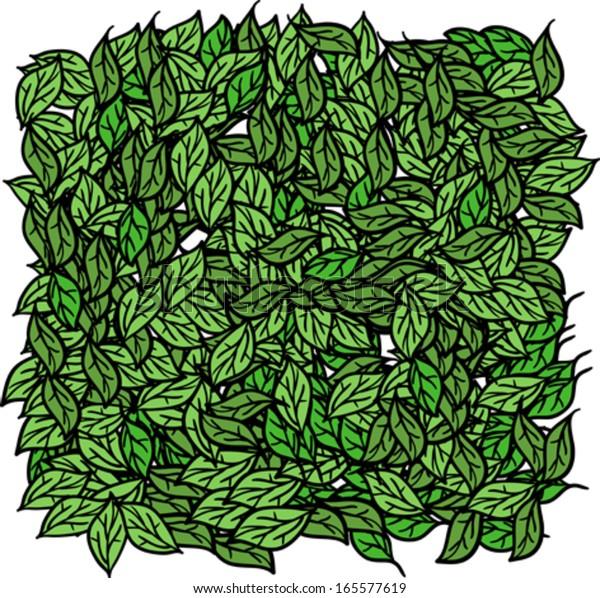Cartoon Illustration Pile Leaves Stock Vector Royalty Free 165577619
