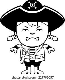 cartoon illustration colonial boy angry expression stock vector Angry Gardener Clip Art a cartoon illustration of a pirate girl looking angry