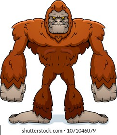 A cartoon illustration of a sasquatch standing.