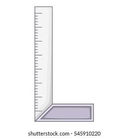 Cartoon illustration of setsquare vector icon for web design