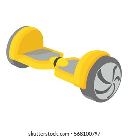 Cartoon illustration of small segway vector icon for web