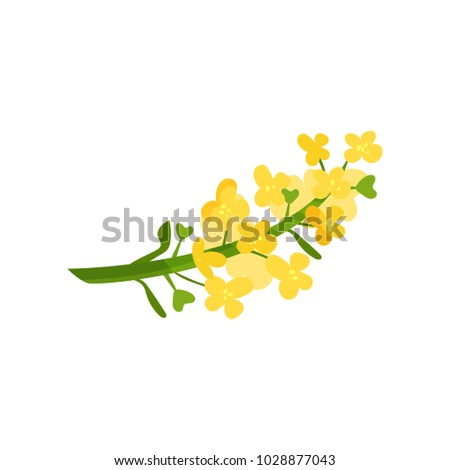 Cartoon Illustration Small Yellow Flowers On Stock Vector Royalty