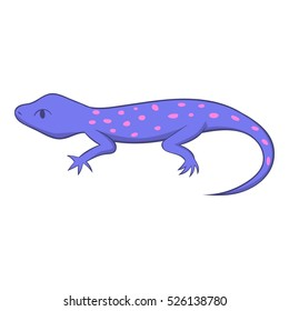 Cartoon illustration of spotted lizard vector icon for web