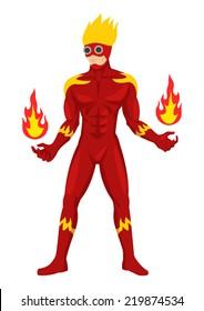 Cartoon illustration of a superhero in cool suit