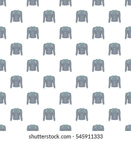 Cartoon illustration of thermolinen gray pullover vector pattern for web