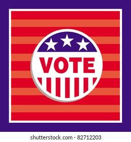 cartoon illustration of a voting card