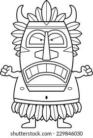 A cartoon illustration of a witch doctor looking angry.