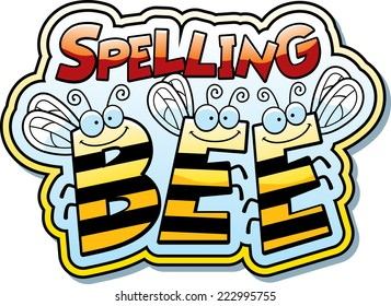 A cartoon illustration of the word buzz with a bee theme.