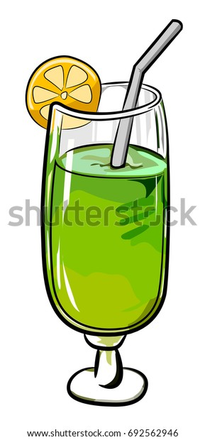 Cartoon image of Cocktail Icon. Glass symbol. An artistic freehand picture.