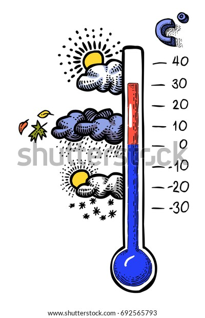 Cartoon image of Day Icon. Weather symbol. An artistic freehand picture.