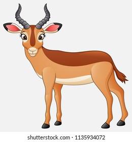 Cartoon impala isolated on white background
