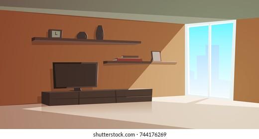Cartoon Interior Modern Living Room
