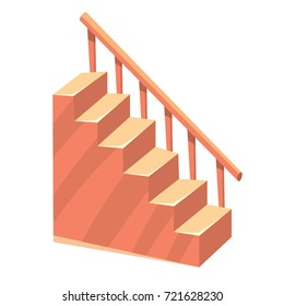 Cartoon isolated stairs staircase color illustration