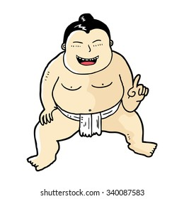 cartoon Japanese sumo wrestler