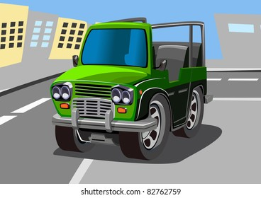 cartoon jeep eleven