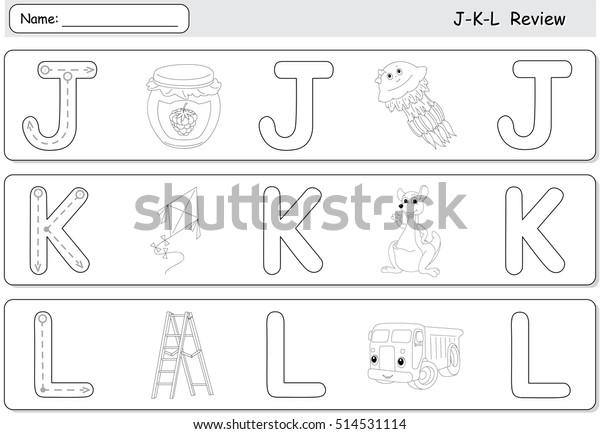 Cartoon Jellyfish Jam Kite Kangaroo Lorry Stock Vector